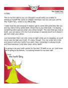 Tooth Fairy Introduction Letter