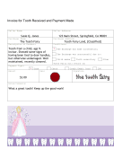 Tooth Fairy Invoice